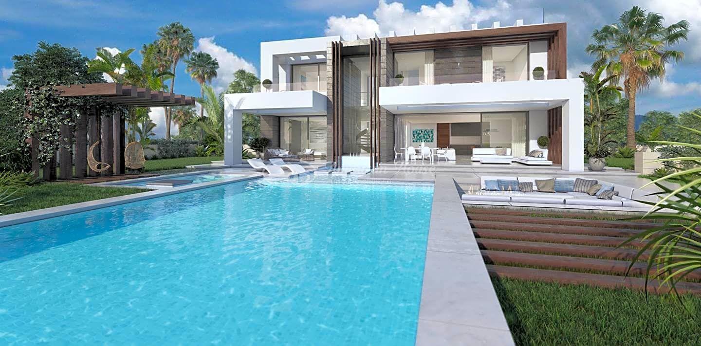 Elegante Contemporánea villa en venta en perfecta ubicación en la zona de San Diego, Manilva, Málaga